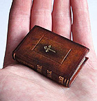 Miniature leather bound boo by The Gently Mad Bookbinder